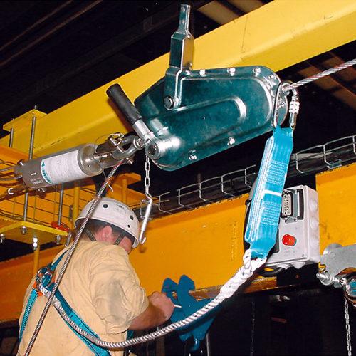 TIRSAFE – přenosné ocelové záchranné lano do nejtvrdších pracovních podmínek, pro až 3 osoby